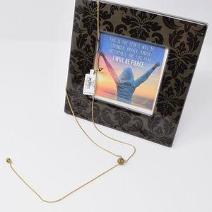 Vera Bradley Baubles Lariat Necklace Gold Tone New